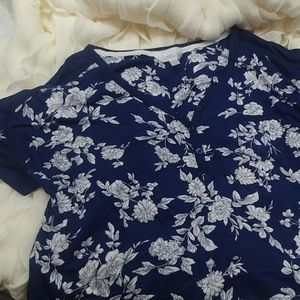 Navy and white floral Super soft night shirt!